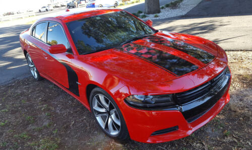 Charger Checkered Flag Stripes